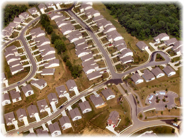 Tract housing in Cincinatti; image credit wikipedia